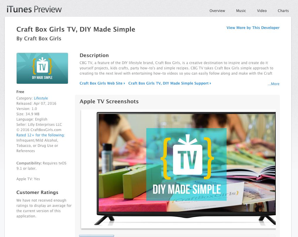 Apple tv app lynn lilly diy expert founder of craft box girls solutioingenieria Images